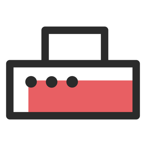 Printer colored stroke icon Transparent PNG