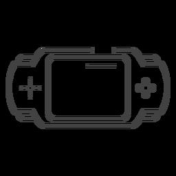 Icono de trazo de consola de juegos pxp