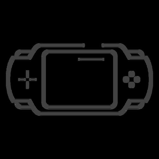 Ícone de traço do console de jogo Pxp