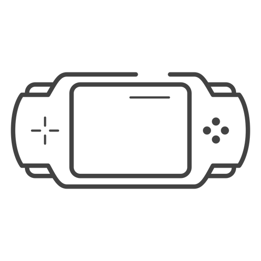 Pxp game console stroke icon Transparent PNG