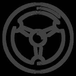 Icono de trazo de rueda de carreras