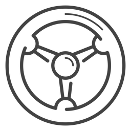 Racing wheel stroke icon
