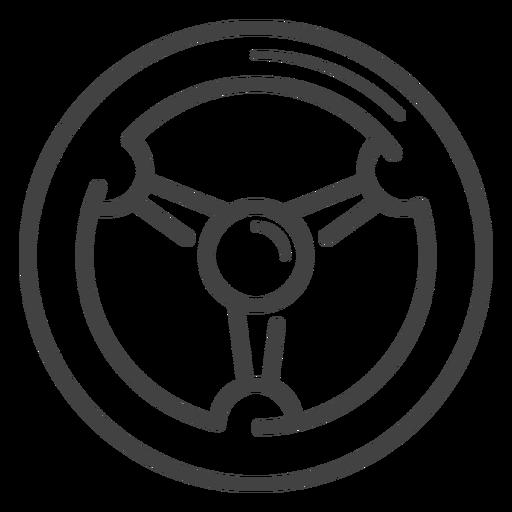 Ícone de traço de roda de corrida Transparent PNG