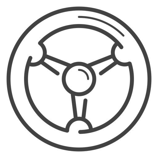 Racing wheel stroke icon Transparent PNG