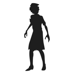 Reanimated zombie silhouette