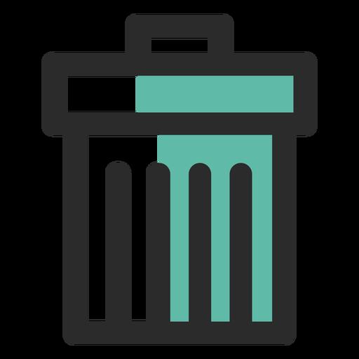 Papelera de reciclaje icono de trazo de color Transparent PNG