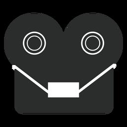 Icono plano de grabadora de cinta de carrete