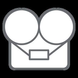 Icono de trazo de la grabadora de cinta de carrete