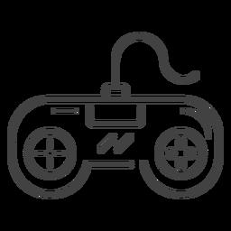 Icono de trazo de gamepad retro