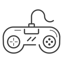 Retro gamepad stroke icon