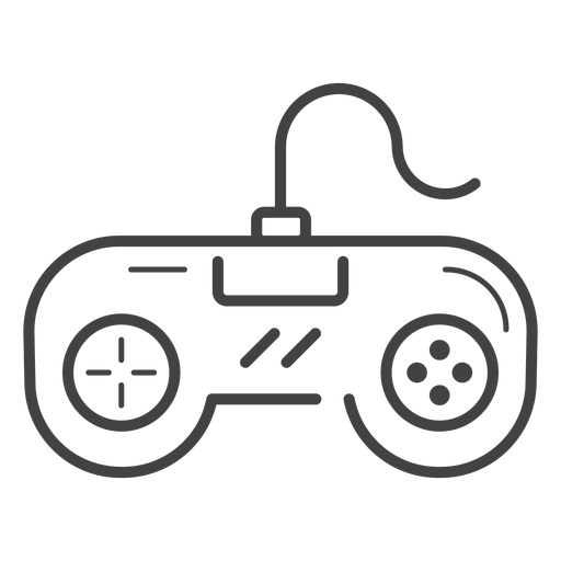 Icono de trazo de gamepad retro Transparent PNG