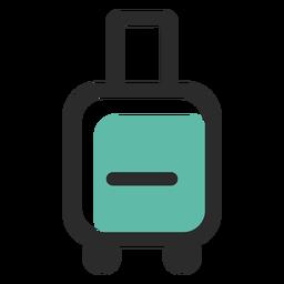 Icono de trazo de color de equipaje rodante