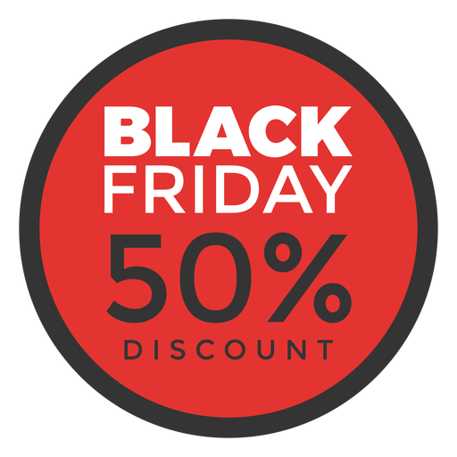 Round black friday discount tag Transparent PNG