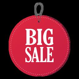 Round sale price tag