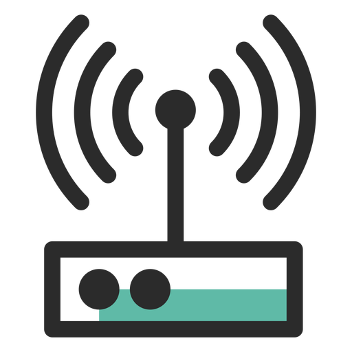 Router colored stroke icon Transparent PNG