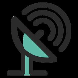 Icono de antena de comunicaciones por satélite