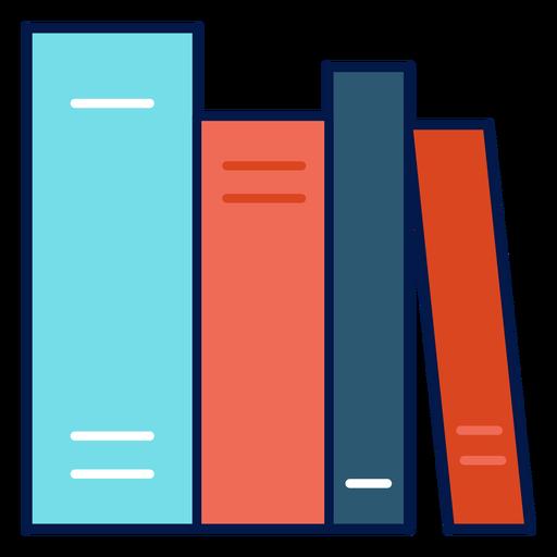 Ícone de livros escolares Transparent PNG