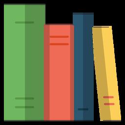Ilustração de livros de escola