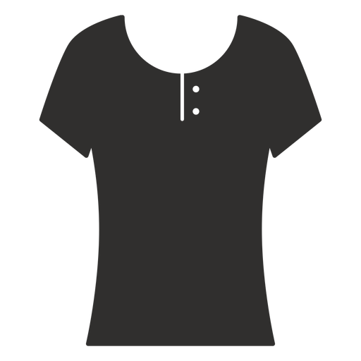 Scoop henley t shirt flat icon