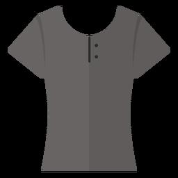 Ícone de camisa de henley de colher