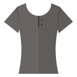 Scoop henley t shirt icon