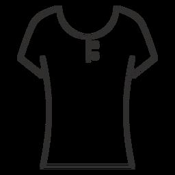 Ícone de traçado de camisa de colher henley t