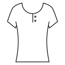 Scoop henley t shirt stroke icon