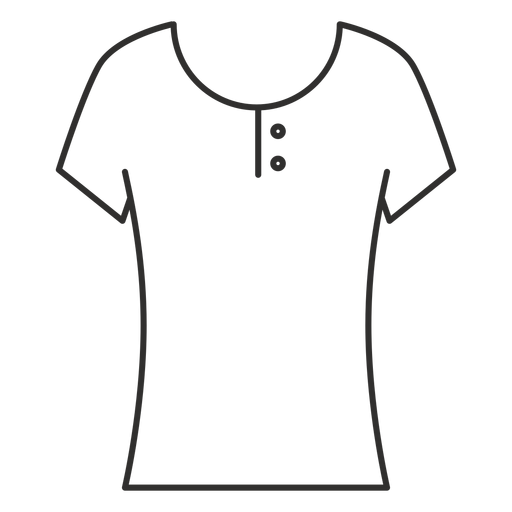 Scoop henley t shirt stroke icon Transparent PNG