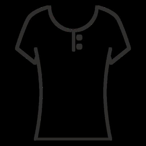 Scoop henley t shirt stroke icon