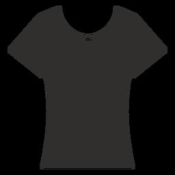 Cuello redondo camiseta plana icono