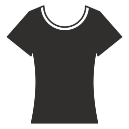 Scoop neck t shirt flat icon