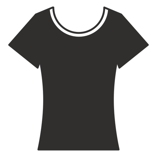 Scoop neck t shirt flat icon