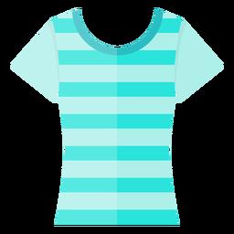 Ícone de camiseta de pescoço de colher
