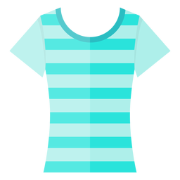 Icono de camiseta de cuello redondo