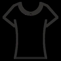 Cuello redondo camiseta icono de trazo
