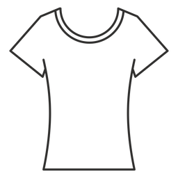 Scoop neck t shirt stroke icon