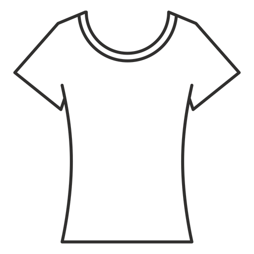 Scoop neck t shirt stroke icon Transparent PNG