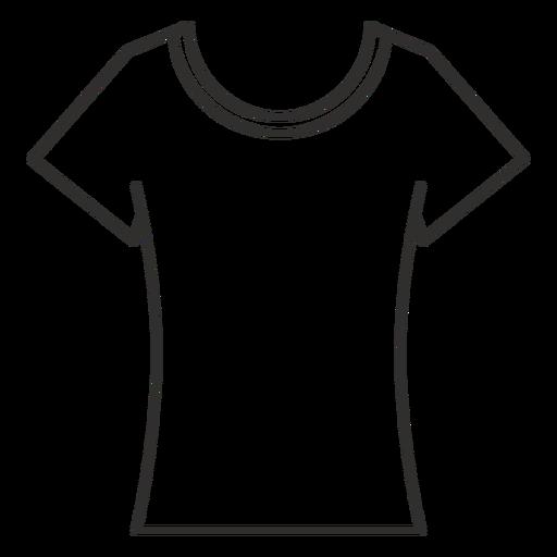 Scoop neck t shirt stroke icon