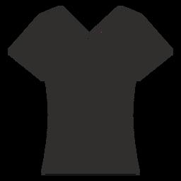 Ícone plana de colher t pescoço camiseta