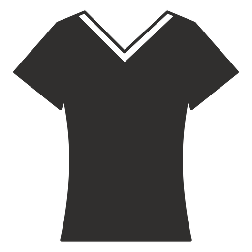Scoop v neck t shirt flat icon