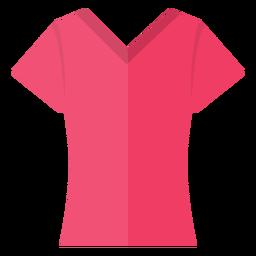 Ícone de camisa de t de pescoço colher v