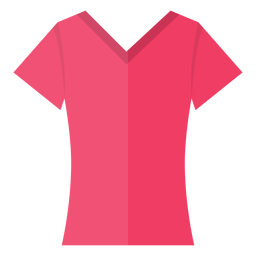 Scoop v neck t shirt icon