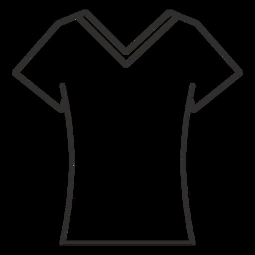 Scoop v neck t shirt stroke icon Transparent PNG
