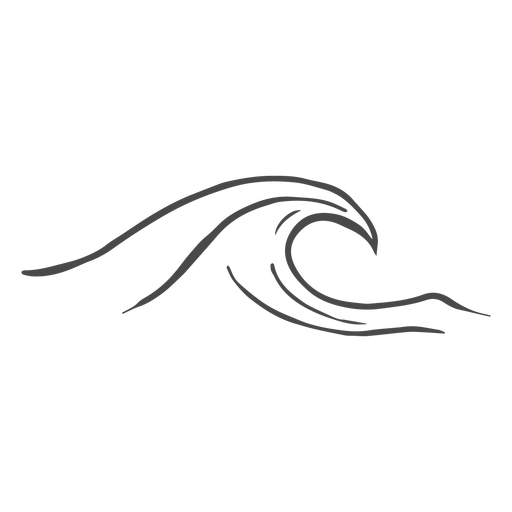 Sea wave hand drawn Transparent PNG