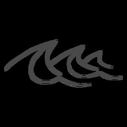 Dibujado a mano de las olas del mar