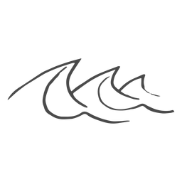 Dibujado a mano las olas del mar
