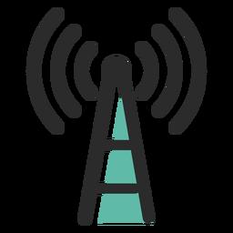 Icono de trazo de color de la torre de señal