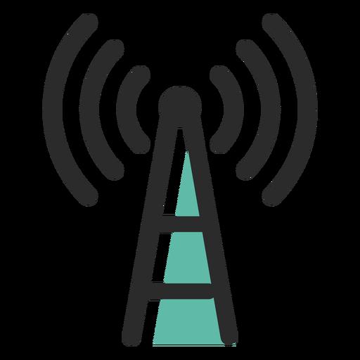 Torre de sinal ícone de traço colorido Transparent PNG