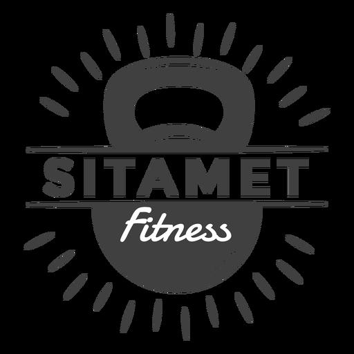Logotipo de fitness Sitamet