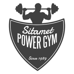 Logotipo de ginásio Sitamet power